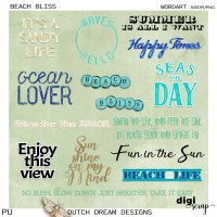 Beach Bliss - Wordart