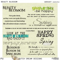 Beauty Blossom -  Wordart