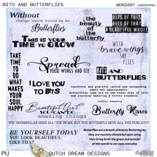Bits and Butterflies Wordart