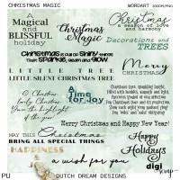 Christmas Magic -  Wordart