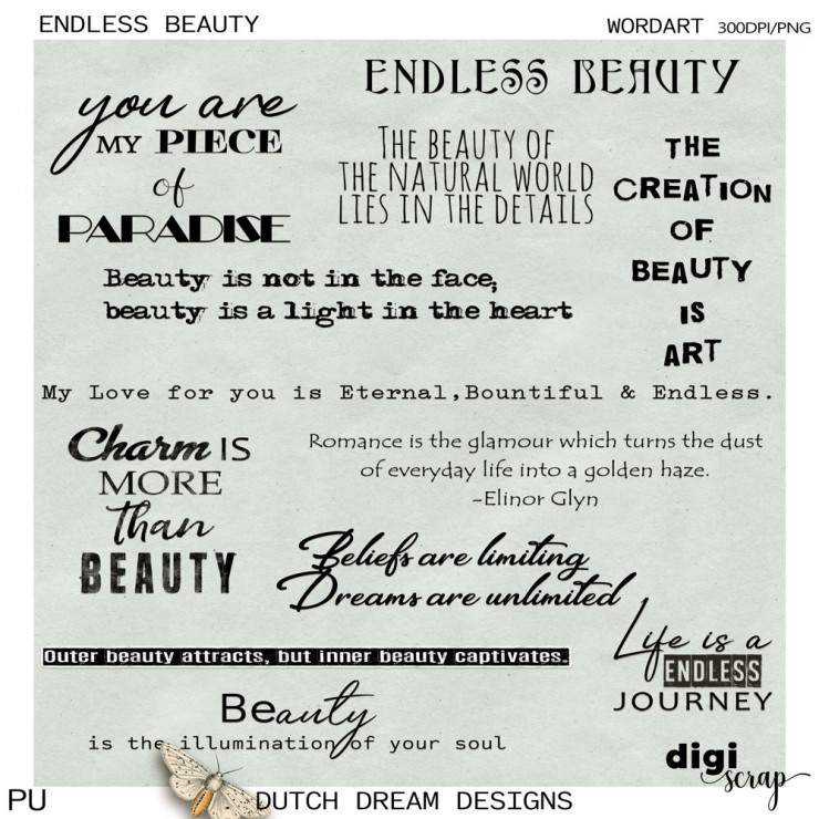 Endless Beauty - Wordart