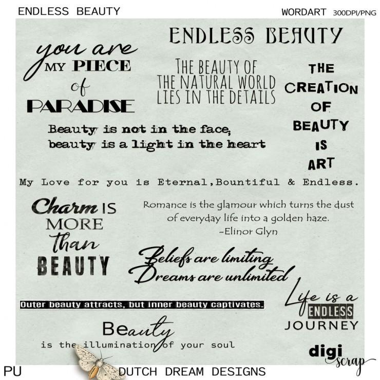 Endless Beauty - Wordart