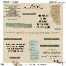 Forest Finds - Wordart