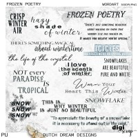 Frozen Poetry - Wordart