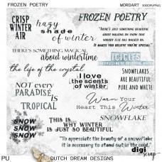 Frozen Poetry - Wordart