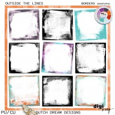 Outside the Lines - Grunge Borders  CU