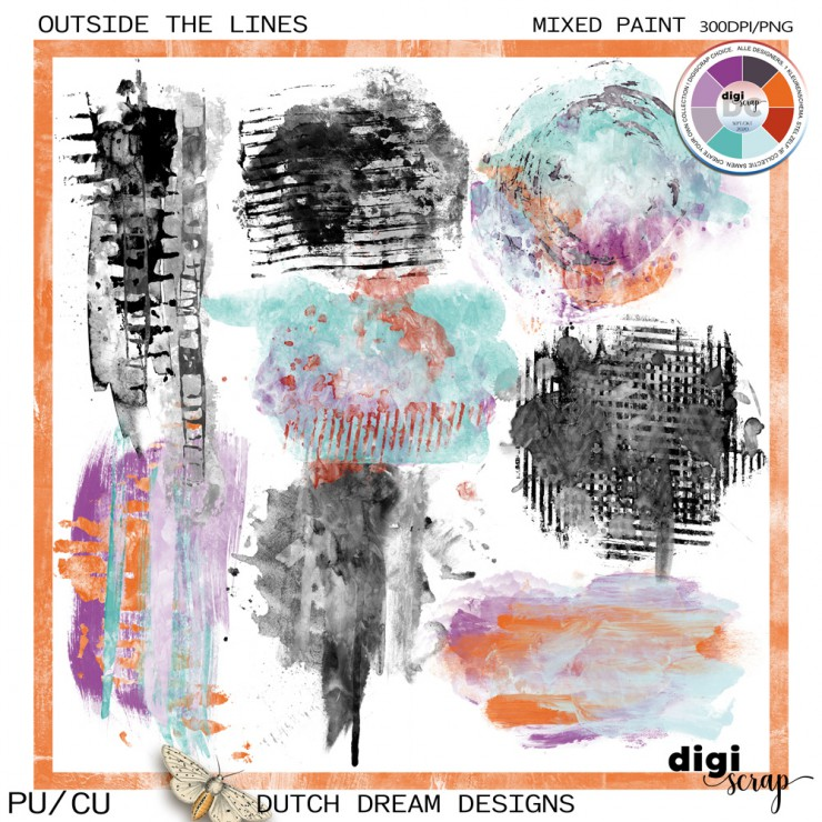 Outside the Lines - Mixed Paint CU