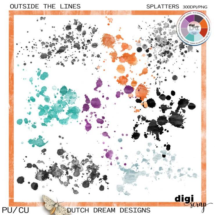 Outside the Lines - Splatters CU