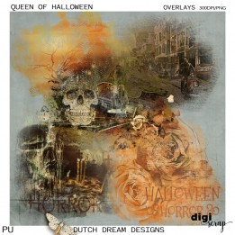 Queen of Halloween - Overlays