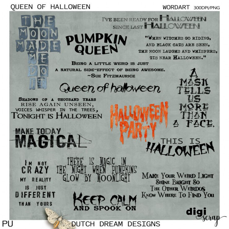 Queen of Halloween - Wordart