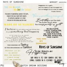 Rays of Sunshine - Wordart