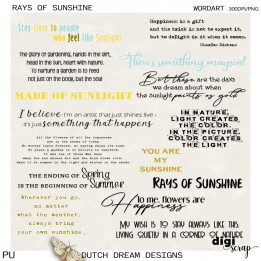 Rays of Sunshine - Wordart