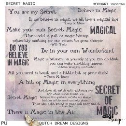 Secret Magic - Wordart