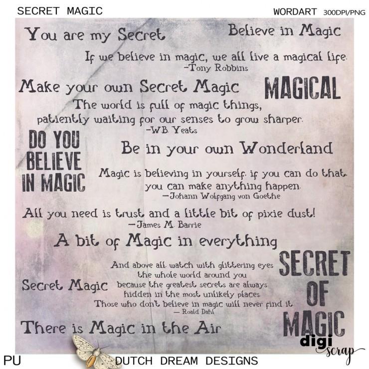 Secret Magic - Wordart