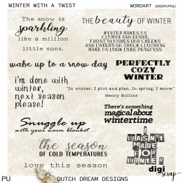 Winter with a Twist - Wordart