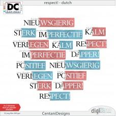 Respect Wordart NL