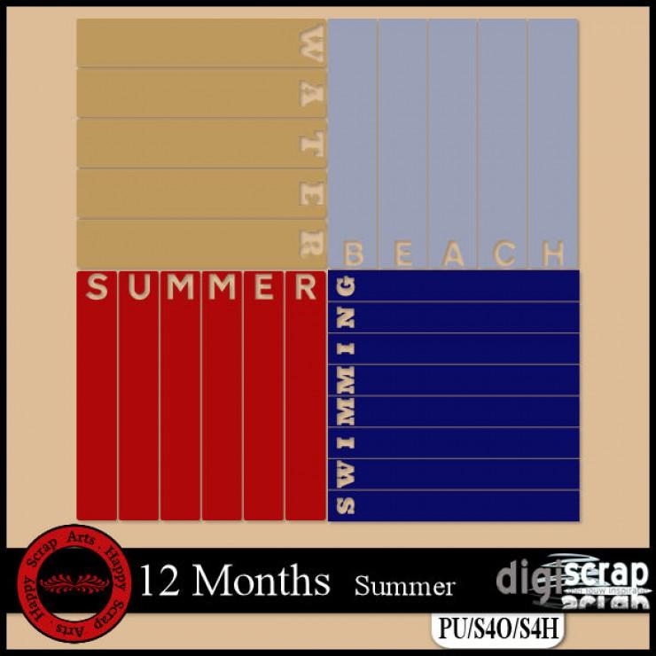 12 months Summer templates