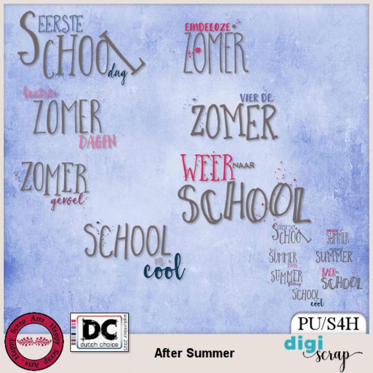 After Summer word art