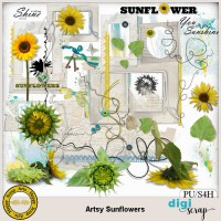 Artsy Sunflowers elements