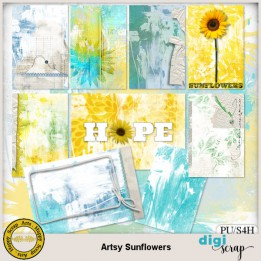 Artsy Sunflowers journal cards