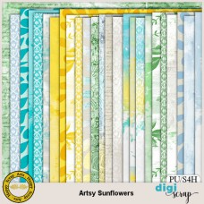 Artsy Sunflowers papers