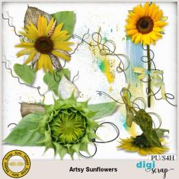 Artsy Sunflowers