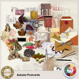 Autumn Postcards Elements
