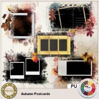 Autumn Postcards mask-templates