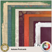 Autumn Postcards Papers 2