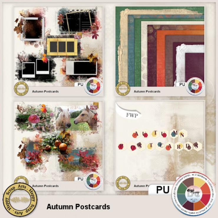 Autumn Postcards Bundle 2