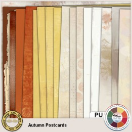 Autumn Postcards Papers