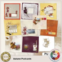 Autumn Postcards Quickpages