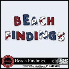 Beach Findings alpha