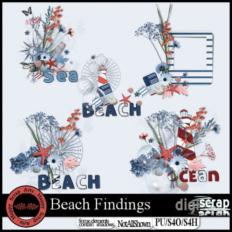 Beach Findings wordard overlays
