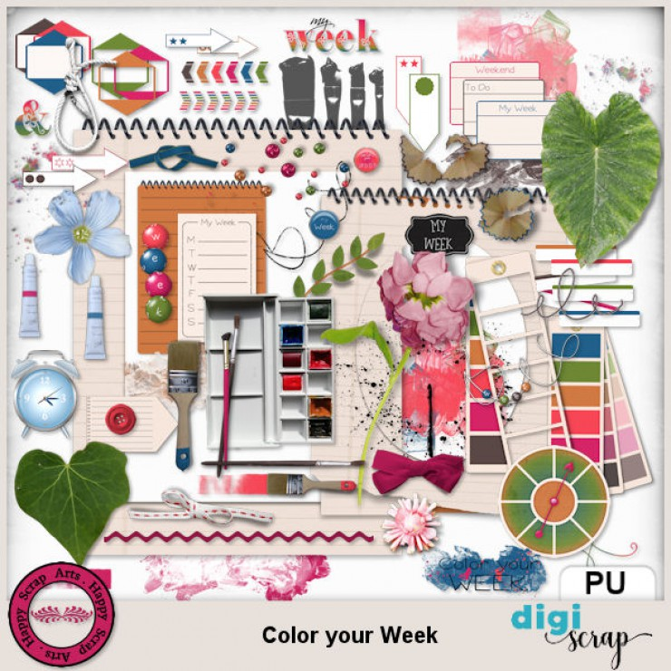 Color your Week elements 1