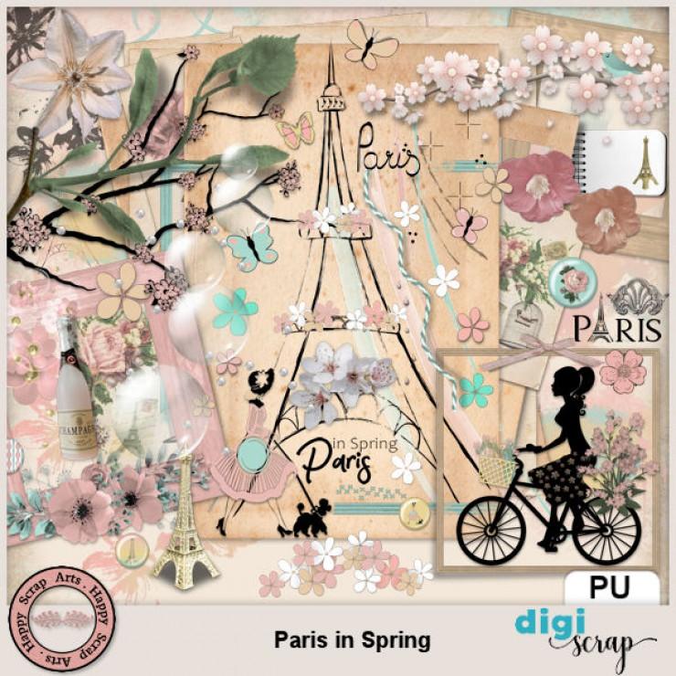 Paris in Spring elements