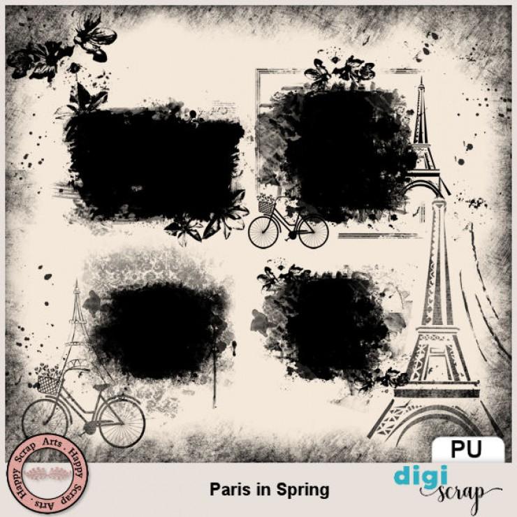 Paris in Spring masks