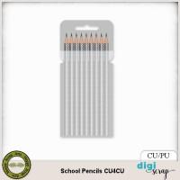 School 1 pencils template CU4CU