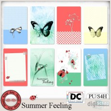 Summer Feeling journal cards