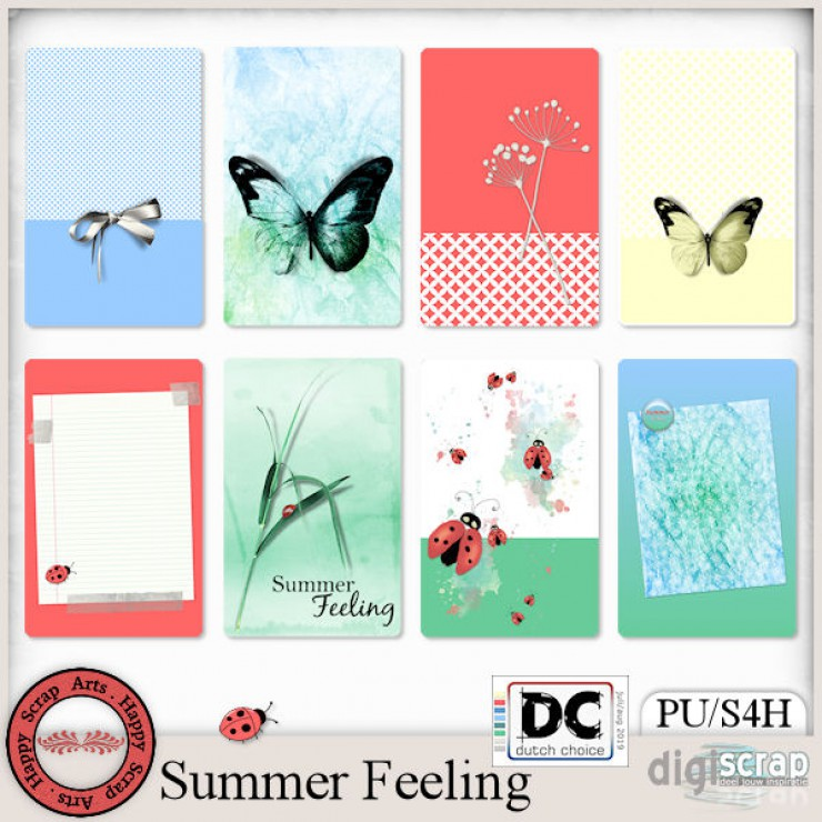 Summer Feeling journal cards