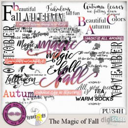 The Magic of Fall wordart