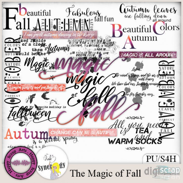 The Magic of Fall wordart