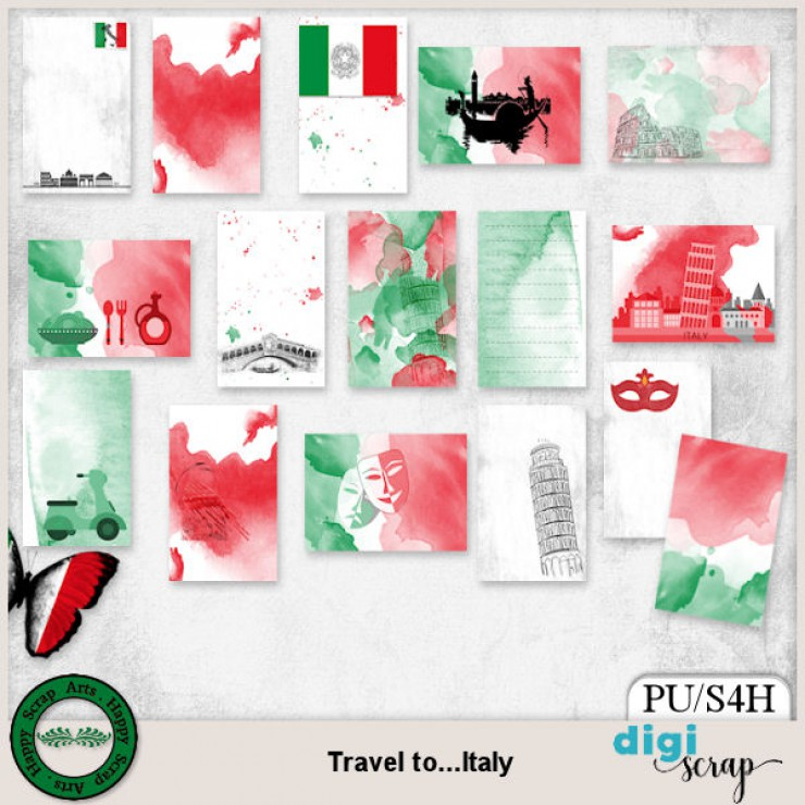 Travel to Italy Journal Cards
