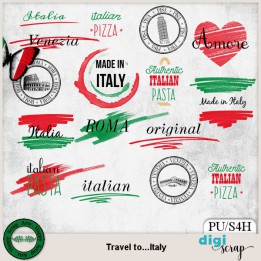 Travel to Italy Journal wordart