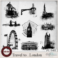 Travel to London brush