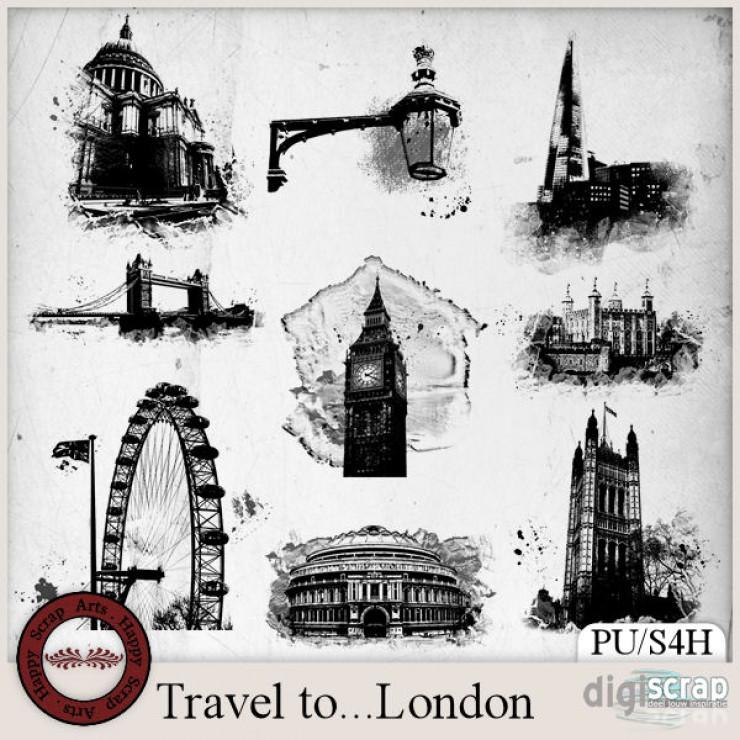 Travel to London brush