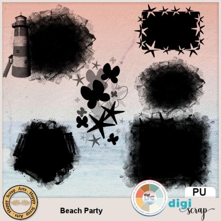 Beach Party masks