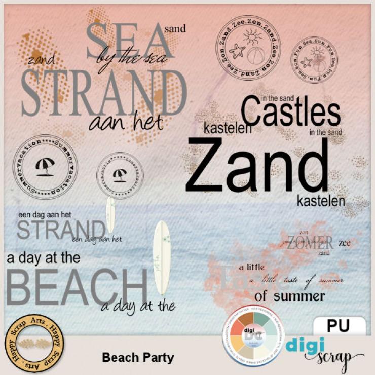 Beach Party wordarts