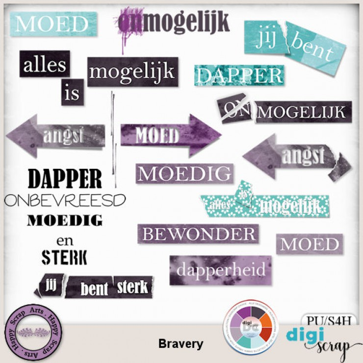 Bravery word art NL