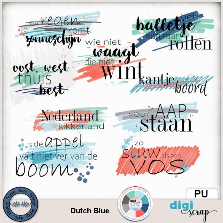 Dutch Blue Wordart